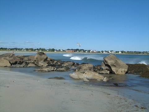 Town of Lockeport as seen from Crescent Beach