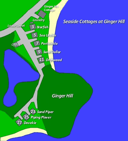 Seaside Cottages Property Map